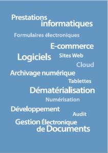 prestations informatiques, éditeur de logiciels de gestion documentaire