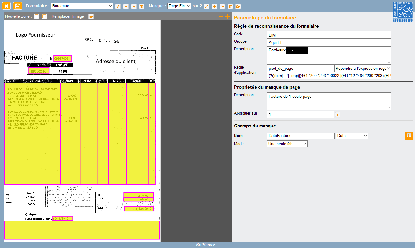 eForms interface